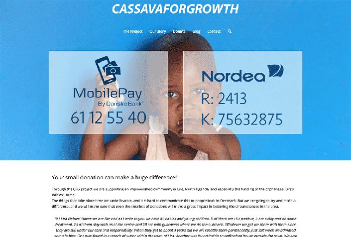 Velgørenhedsprojektet CassavaForGrowth